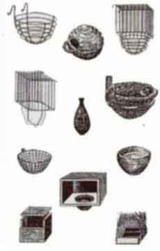 Гнездовые домики открытого и закрытого типа